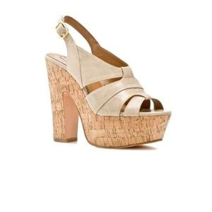 Steve Madden platform cork leather sandals